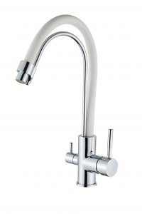 Смеситель для кухни с гибким изливом и с выходом для питьевой воды D49-19017