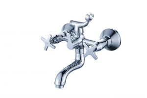 Смеситель для ванной с коротким изливом монолитный D80-330351