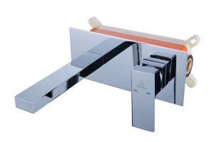 Встраиваемый смеситель с прямым и плоским изливом D80-333106